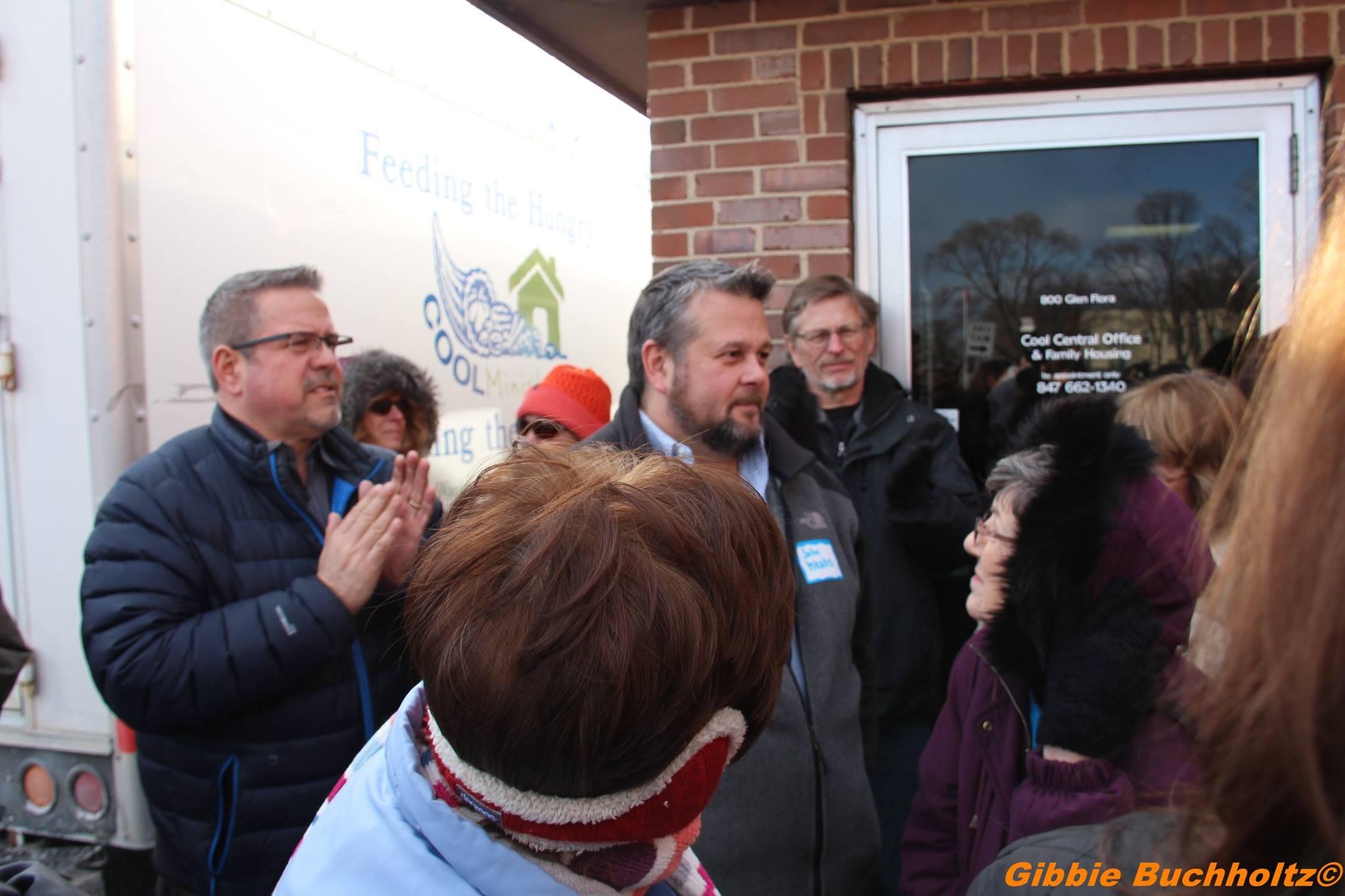 Donor, John Iskalis receives applause