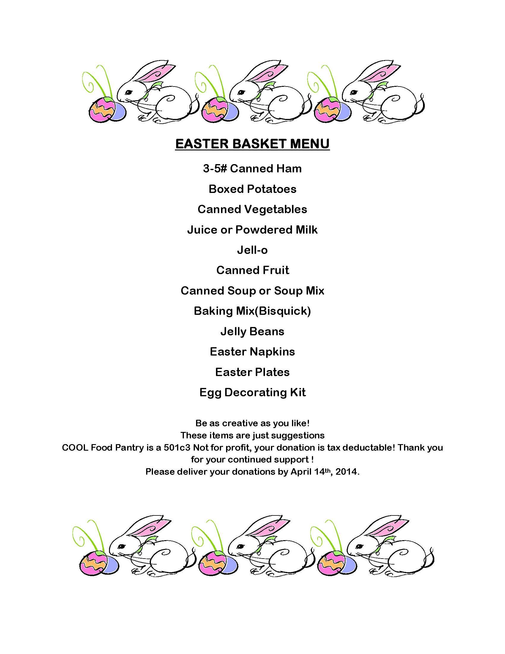 Easter Basket Menu Large For Website Page 1 Cool Ministries
