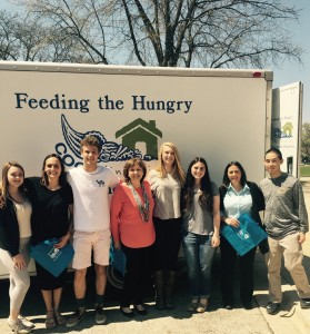 This group collected 1,500 hundred pounds of food!!